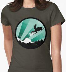 snowmobile : powder trail Womens Fitted T-Shirt