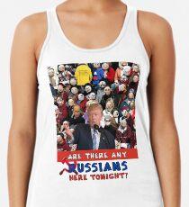 Any Russian, Trump Rally, Trump, Russia, Emoji, Trump Question Racerback Tank Top