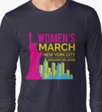 Women's March NYC January 20 2018 Long Sleeve T-Shirt