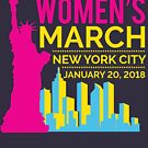 Women's March NYC January 20 2018 by oddduckshirts
