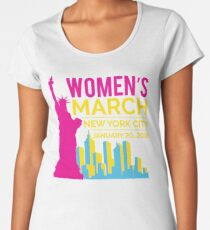 Women's March NYC January 20 2018 Women's Premium T-Shirt