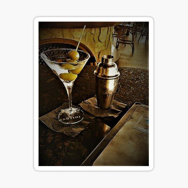 """""""Martini Bar 2a"""" Original Photography by Tony DuPuis Sticker"""