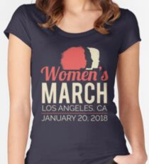 Women's March Los Angeles January 20 2018 Women's Fitted Scoop T-Shirt
