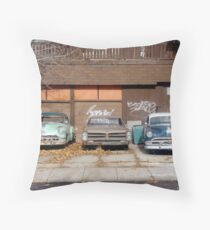 Old School Wheels Throw Pillow