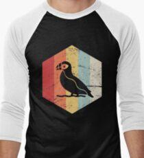Retro Vintage Puffin Icon Men's Baseball ¾ T-Shirt