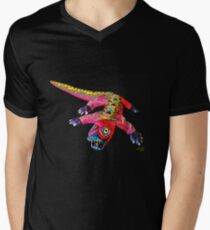 LUNGING DRAGON V-Neck T-Shirt