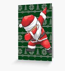 Funny Dabbing Santa Ugly Design Greeting Card