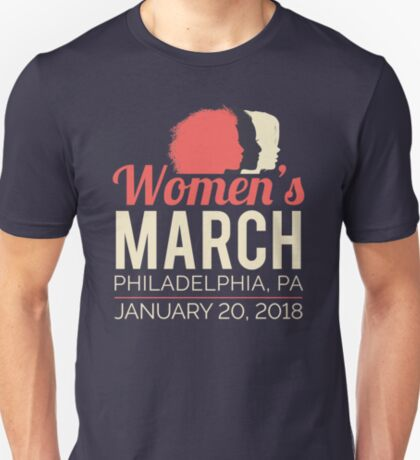 Philadelphia Women's March January 20 2018 Pennsylvania T-Shirt
