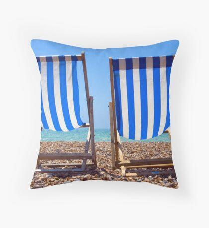 Brighton Blues Throw Pillow