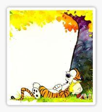 kid tiger nap Sticker