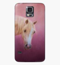 Hübsch in der rosa Palomino-Pferdekunst Hülle & Klebefolie für Samsung Galaxy