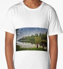 Cambodian kids fishing Long T-Shirt