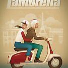 Retro Lambretta Scooter by kevincreative
