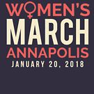 Annapolis Women's March January 20 2018 by oddduckshirts