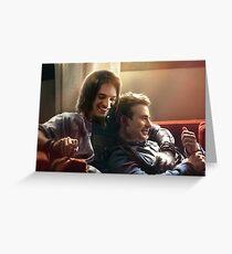 Couch Snuggles Grußkarte