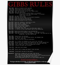 NCIS Gibbs Rules Poster