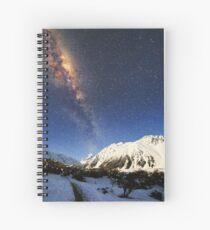 Milky Way over Mt Cook New Zealand Spiral Notebook