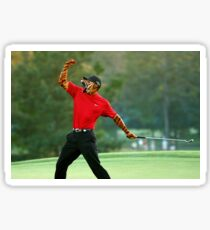 Tiger Woods is Back Sticker
