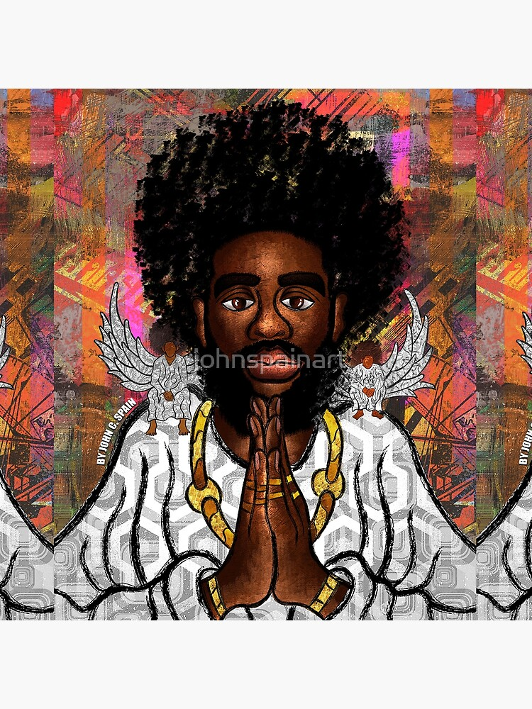 Black Jesus by johnspainart