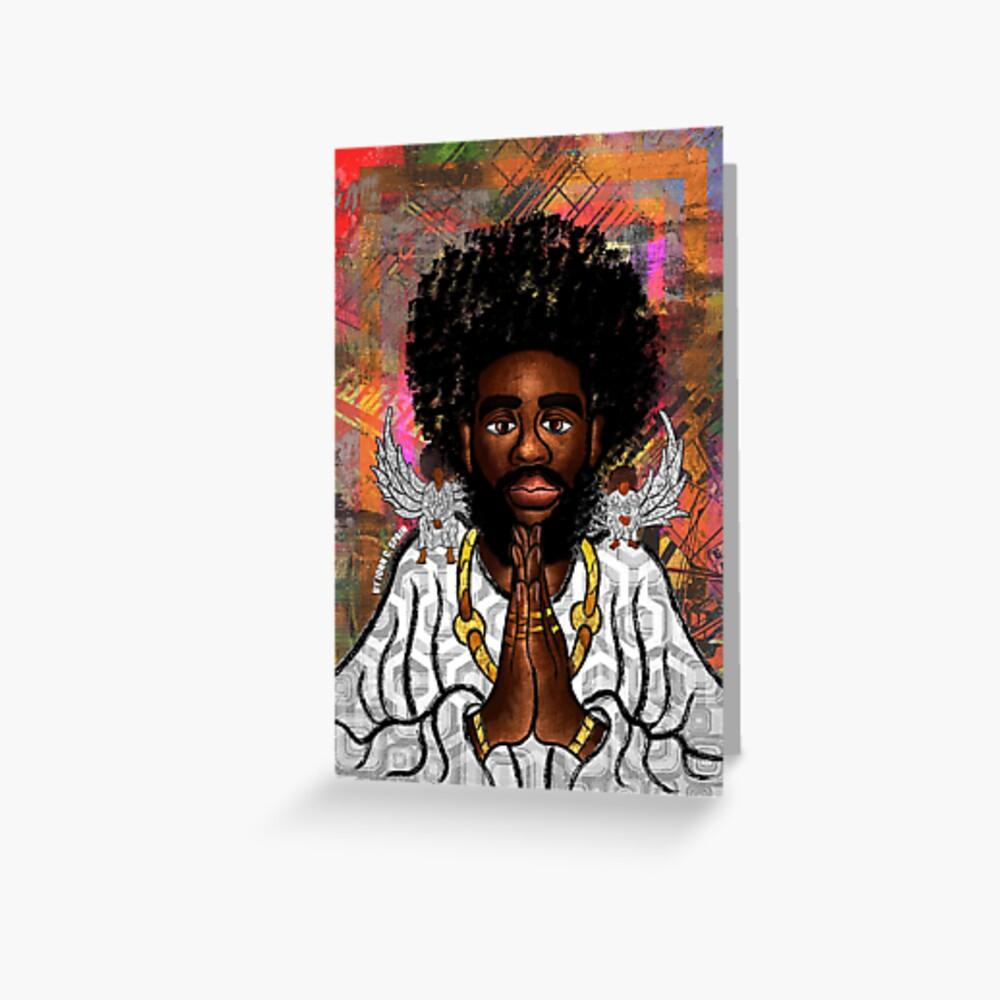 Black Jesus Greeting Card