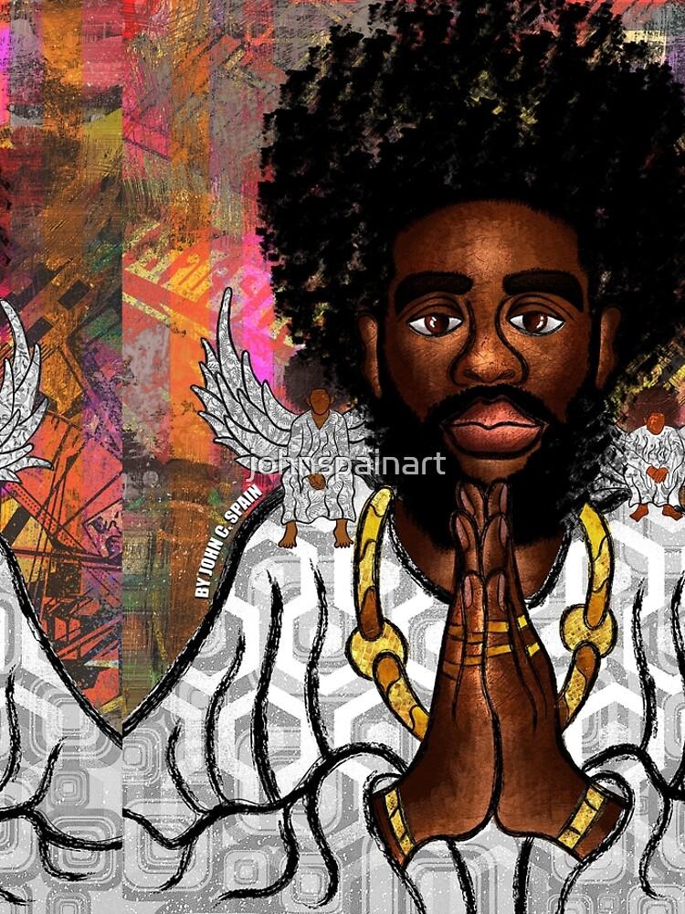 Black Jesus by johnspainart