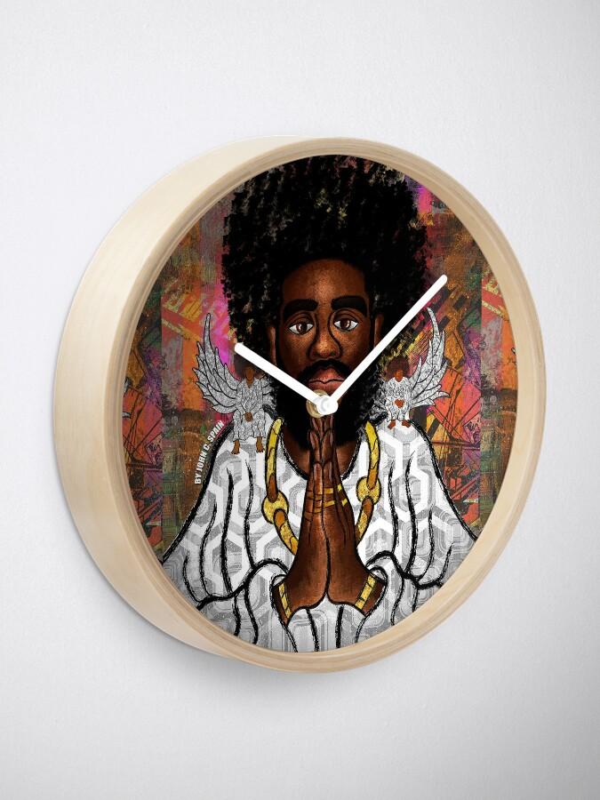 Alternate view of Black Jesus Clock