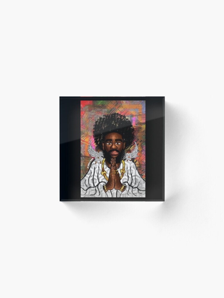 Alternate view of Black Jesus Acrylic Block