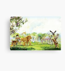 """Illustration for """" The Lion,  The Witch and  The Wardrobe"""" by CS Lewis .  Canvas Print"""