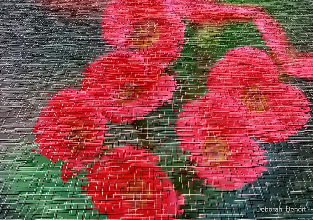 Flower Craquelure by Deborah  Benoit