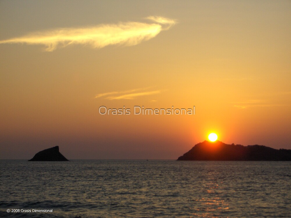 Dragon Sunset by Orasis Dimensional