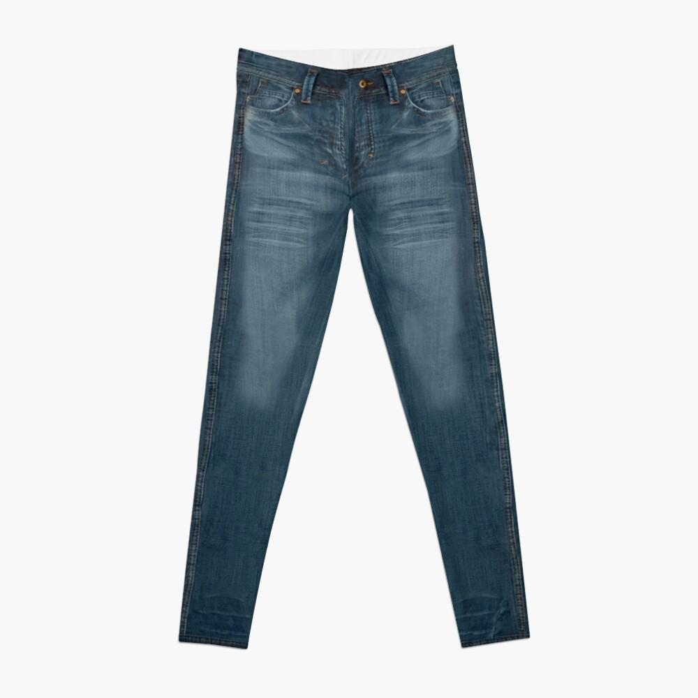 Blue Jeggings Creased Leggings