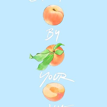 Quot Call Me By Your Name Peach Quot Classic T Shirt By Notbrylee Redbubble