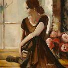 Dancer in window by Cathy Amendola