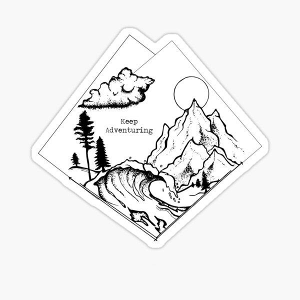Keep Adventuring Sticker