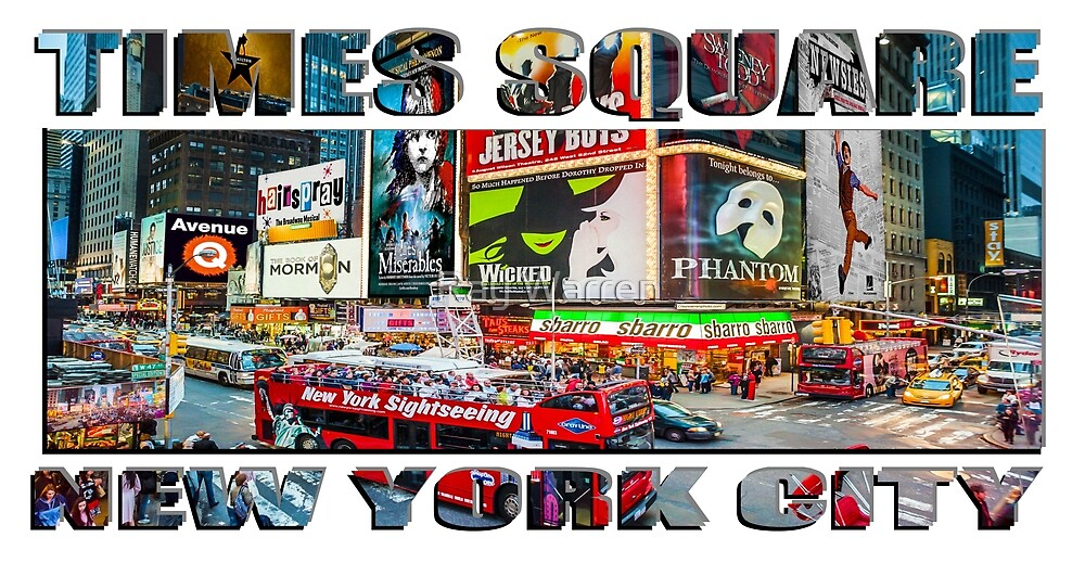 Times Square New York City widescreen version by Raymond Warren