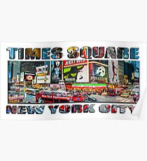 Times Square New York City widescreen version Poster