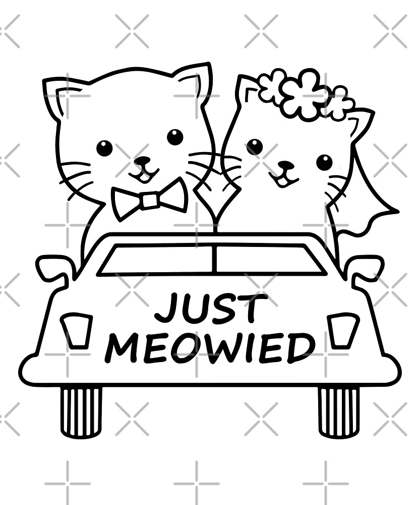 Funny Just Meowied Married Cat Lover by JapaneseInkArt