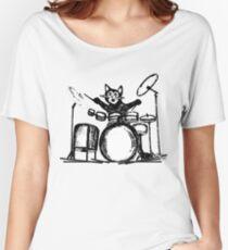 Drummer Cat Women's Relaxed Fit T-Shirt