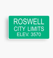 ROSWELL Canvas Print