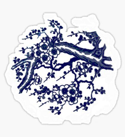 cherry blossom blue Sticker