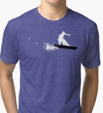snowboard : powder trail Tri-blend T-Shirt