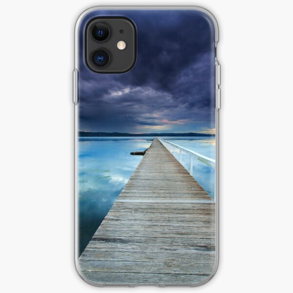Long Jetty sunset iPhone Soft Case