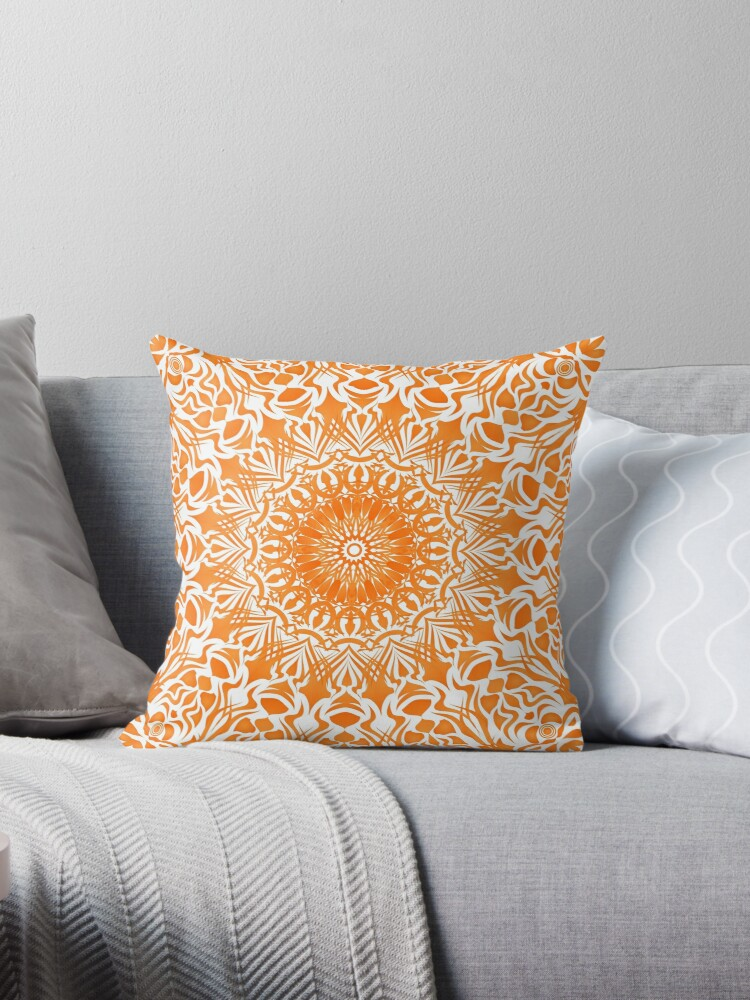 Tribal Mandala Orange von pASob-dESIGN