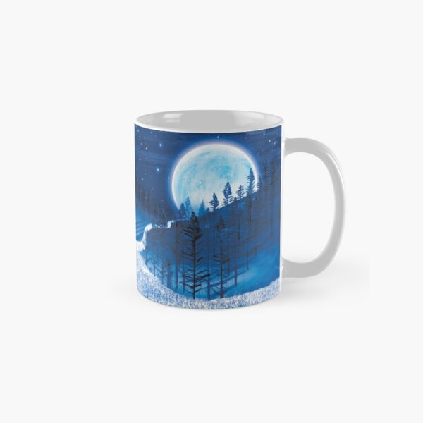 Boy and Blue Moon  Classic Mug