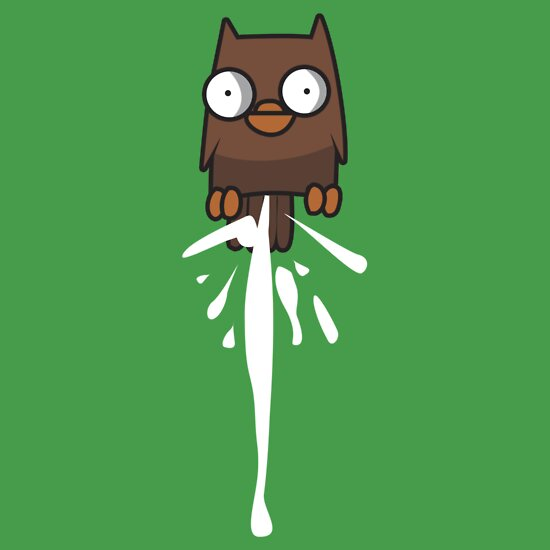 TShirtGifter presents: Castle Crashers Owl Pooping