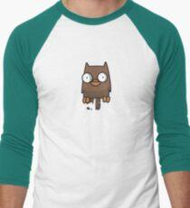 Castle Crashers Owl Pooping Men's Baseball ¾ T-Shirt