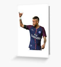 Neymar PSG Greeting Card