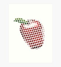 Apple pixel  Art Print