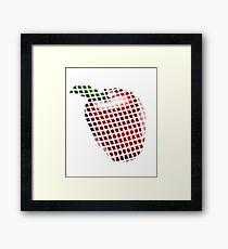 Apple pixel  Framed Print