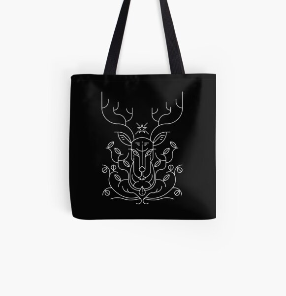 Reindeer All Over Print Tote Bag